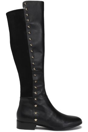 MICHAEL MICHAEL KORS Embellished leather and suede boots