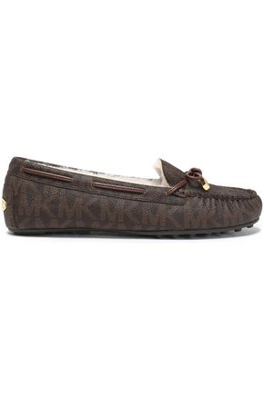 MICHAEL MICHAEL KORS Printed textured-leather moccasins