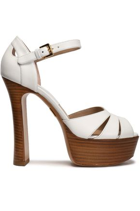 MICHAEL KORS COLLECTION Cutout leather platform sandals