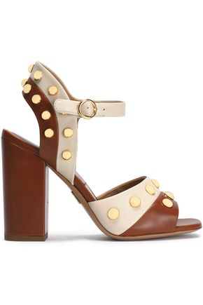 MICHAEL KORS COLLECTION Studded two-tone leather sandals