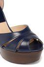 MICHAEL KORS COLLECTION Cutout leather platform sandals