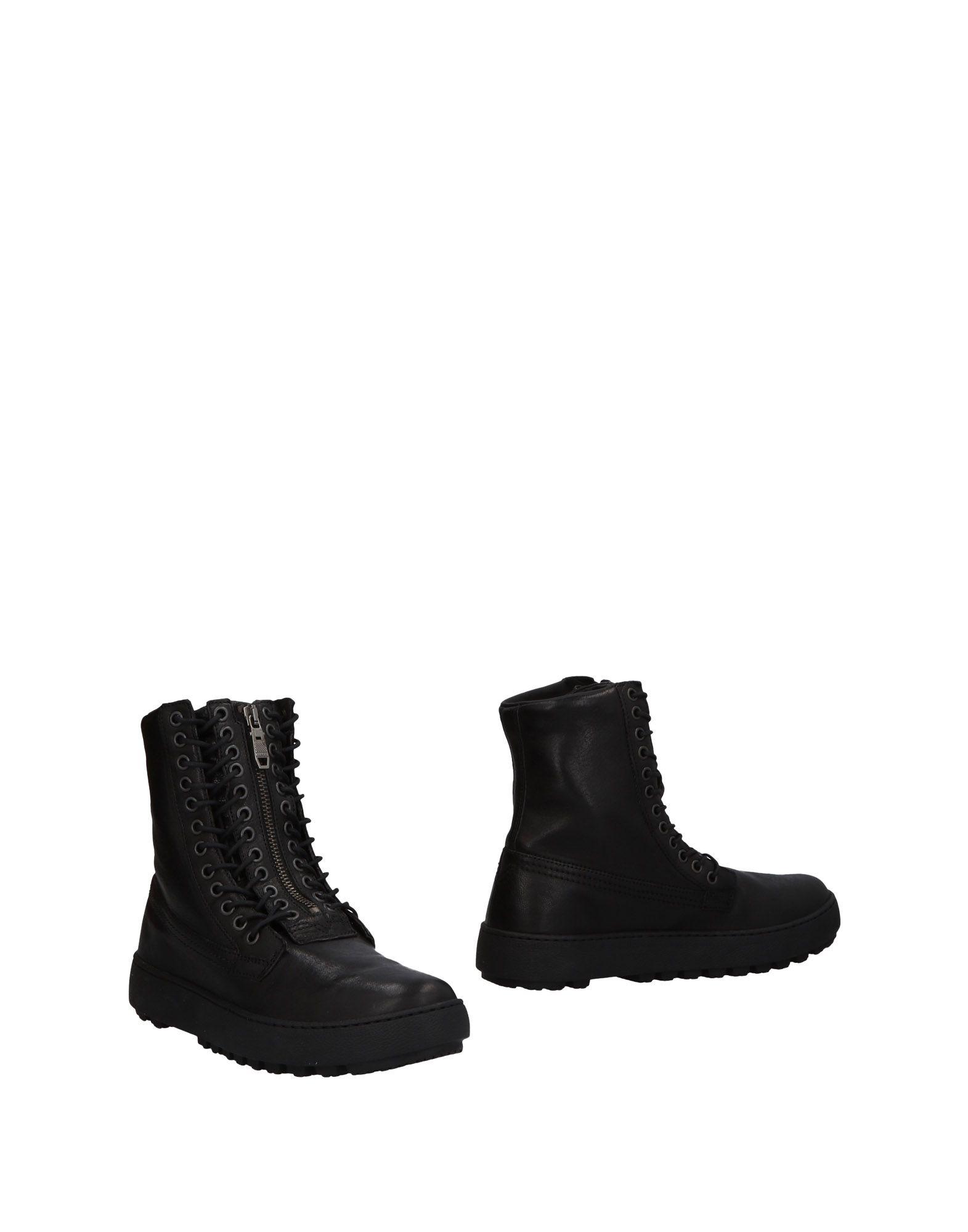 《送料無料》DIESEL メンズ ショートブーツ ブラック 40 牛革