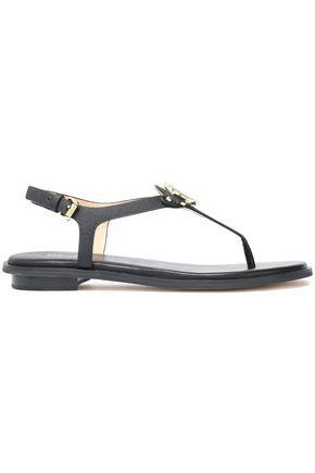 MICHAEL MICHAEL KORS Embellished textured-leather sandals