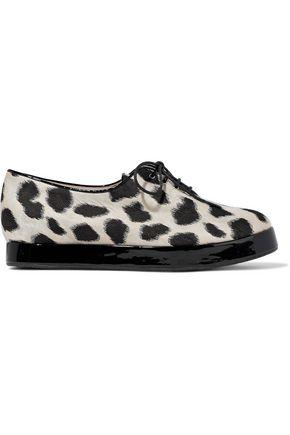 GIORGIO ARMANI Leopard-print jacquard brogues