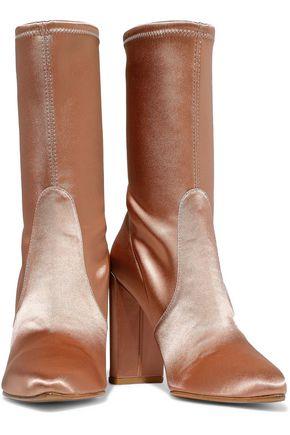 13829ba670c STUART WEITZMAN Satin ankle boots