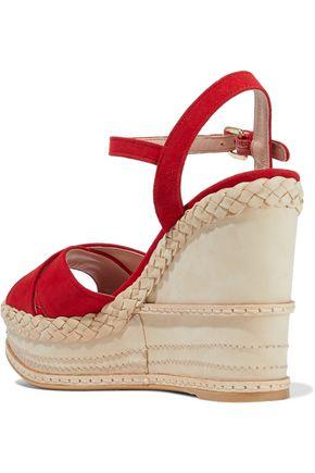 STUART WEITZMAN Sundry suede wedge sandals