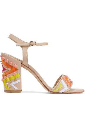 STUART WEITZMAN Both embellished leather sandals
