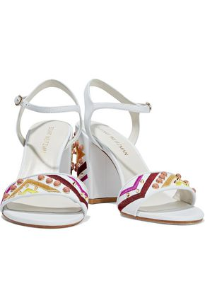 STUART WEITZMAN Embellished leather sandals