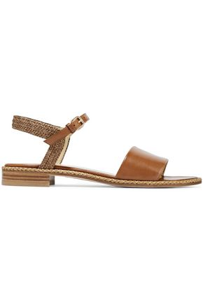 STUART WEITZMAN Yourtwist braided and smooth leather sandals