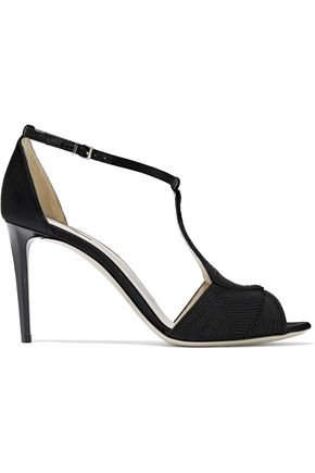 GIORGIO ARMANI Appliquéd satin sandals