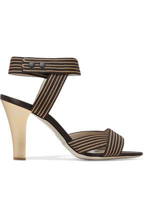 GIORGIO ARMANI Striped woven sandals