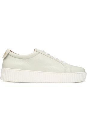 Australia Luxe Collective Woman Textured-leather Sneakers Ivory Size 6 Australia Luxe