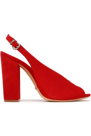 SCHUTZ Suede slingback sandals
