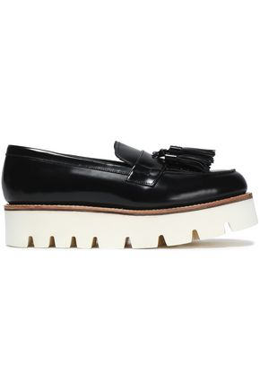 GRENSON Tasseled leather platform loafers