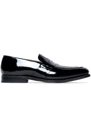 GRENSON Studded patent-leather loafers