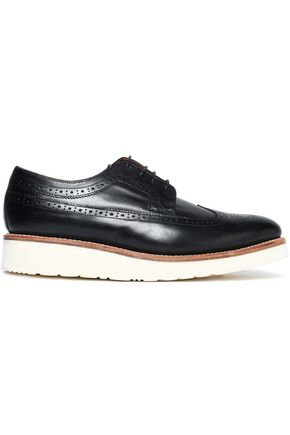 GRENSON Perforated leather brogues