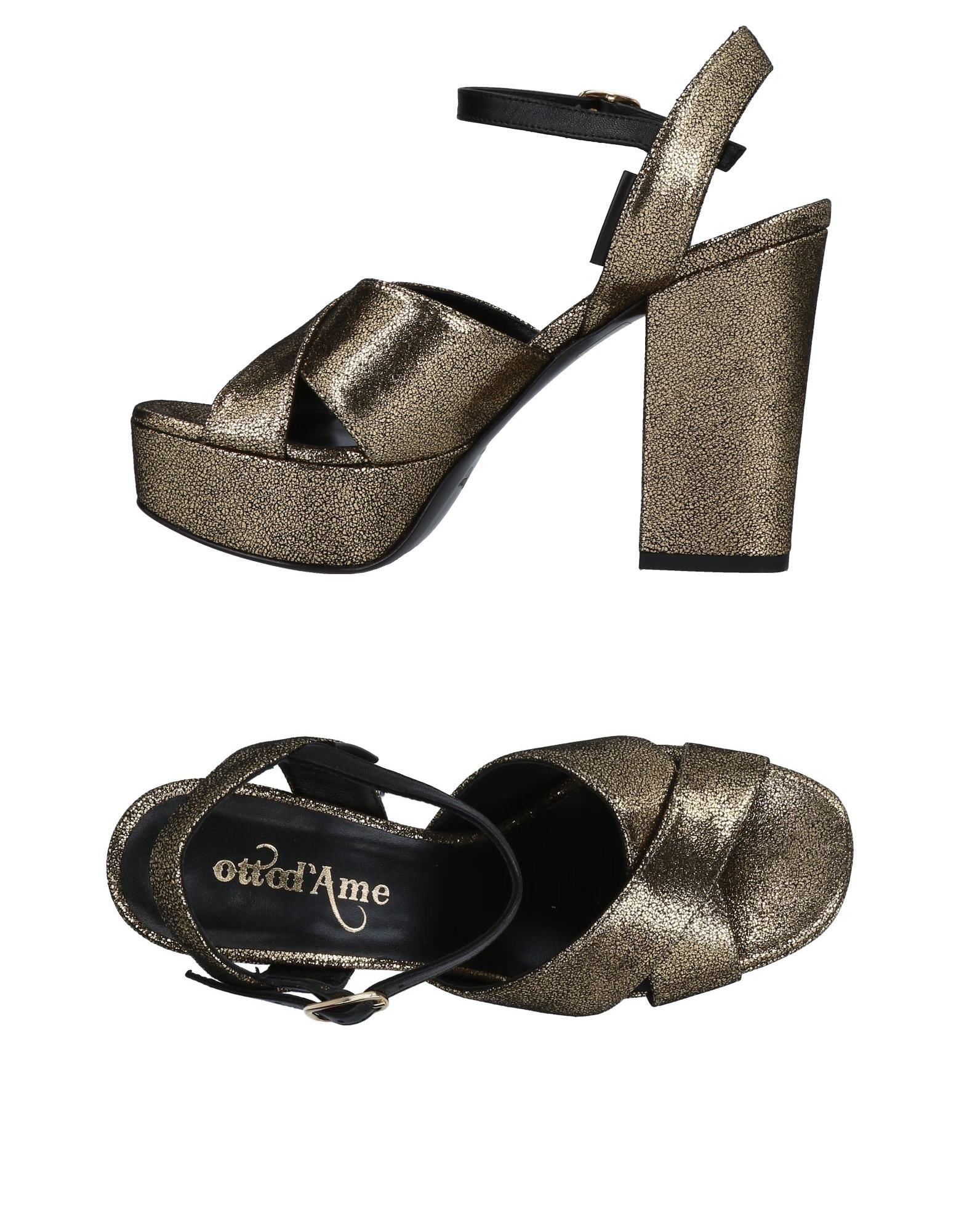 OTTOD'AME Sandals in Gold