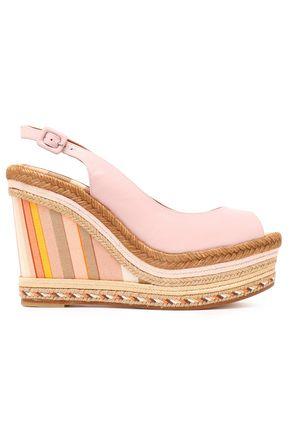 VALENTINO GARAVANI Leather platform espadrille wedge sandals