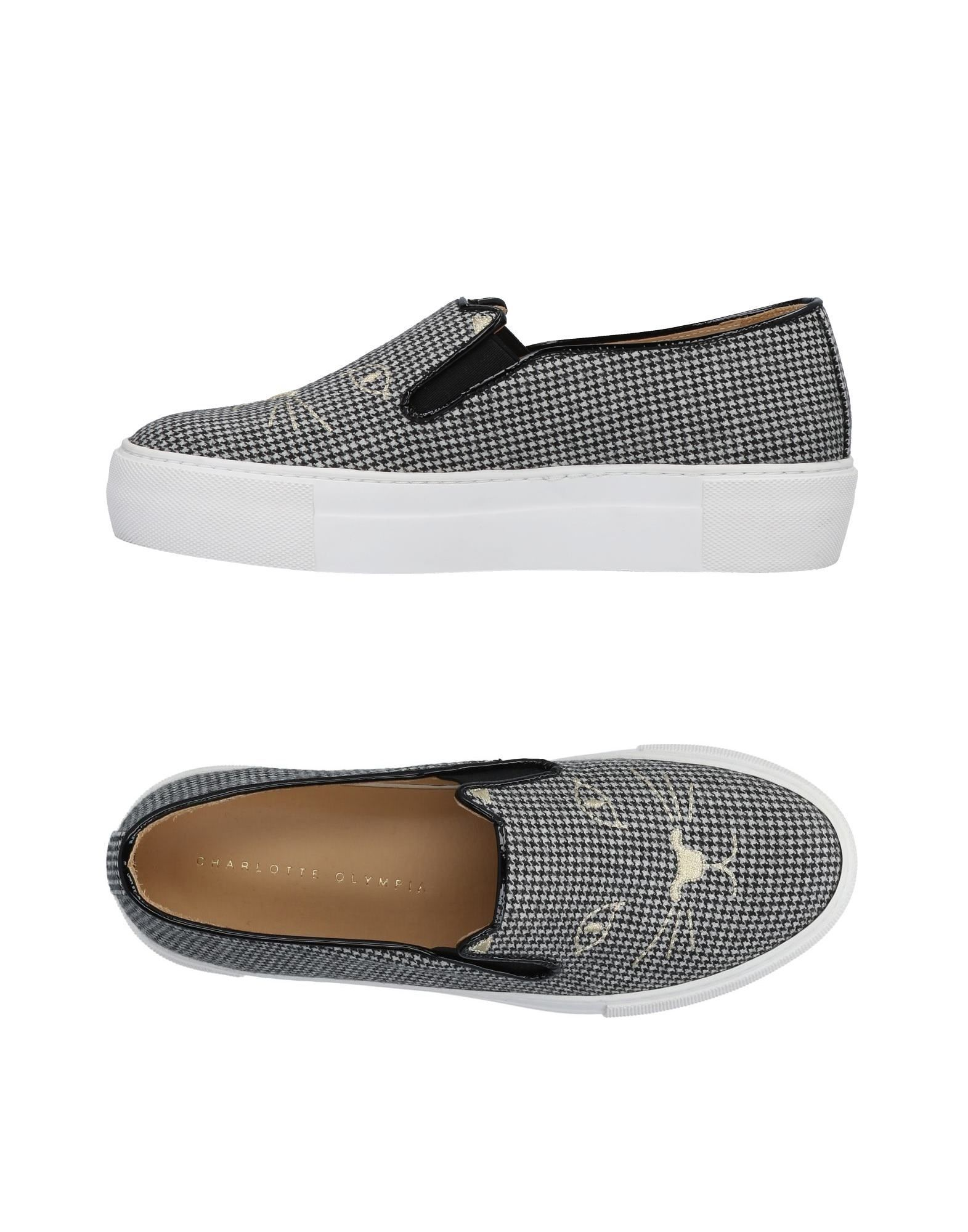 Charlotte Olympia Leopard Print Platform Sneakers In Houndstooth