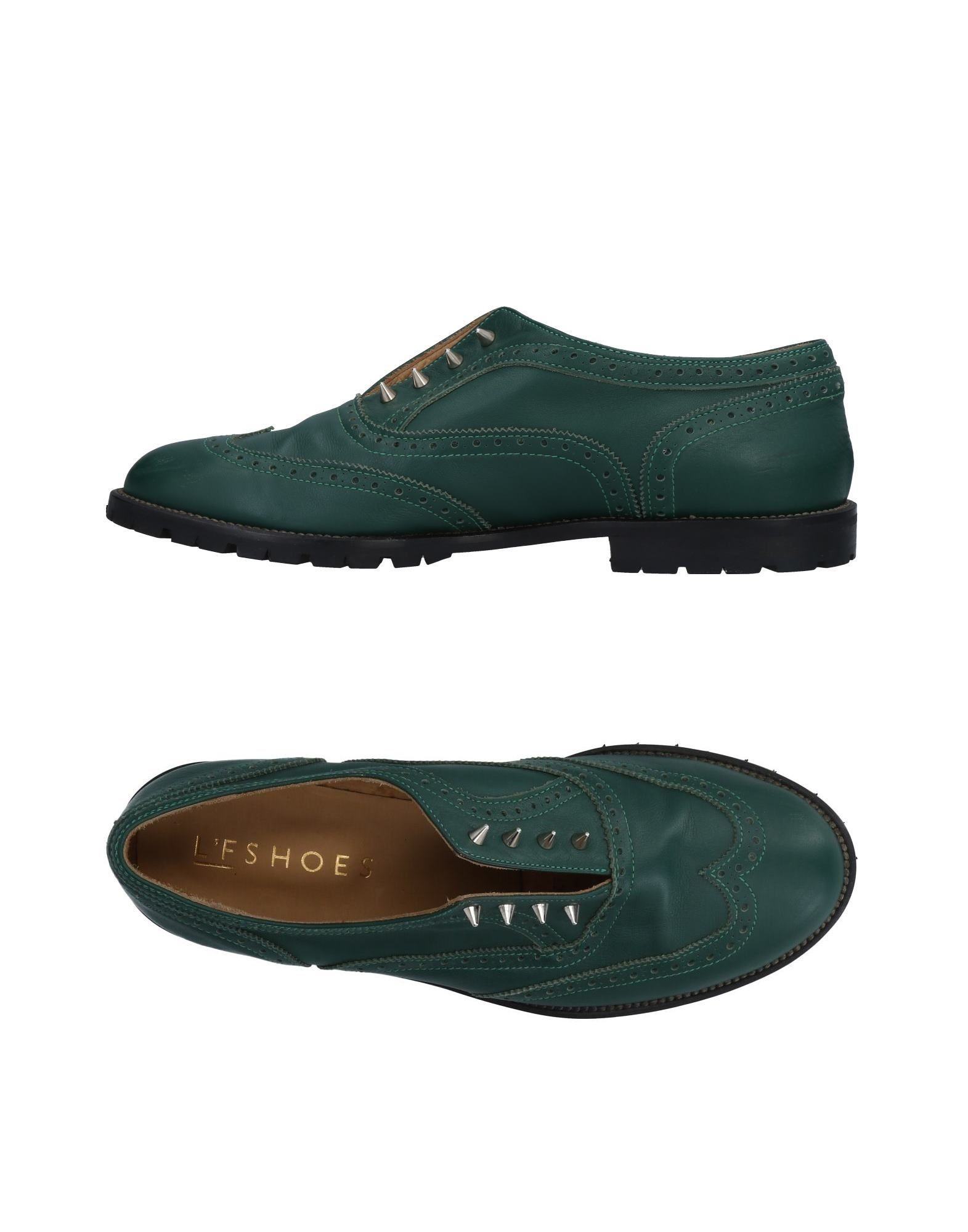 L'F SHOES Loafers in Emerald Green