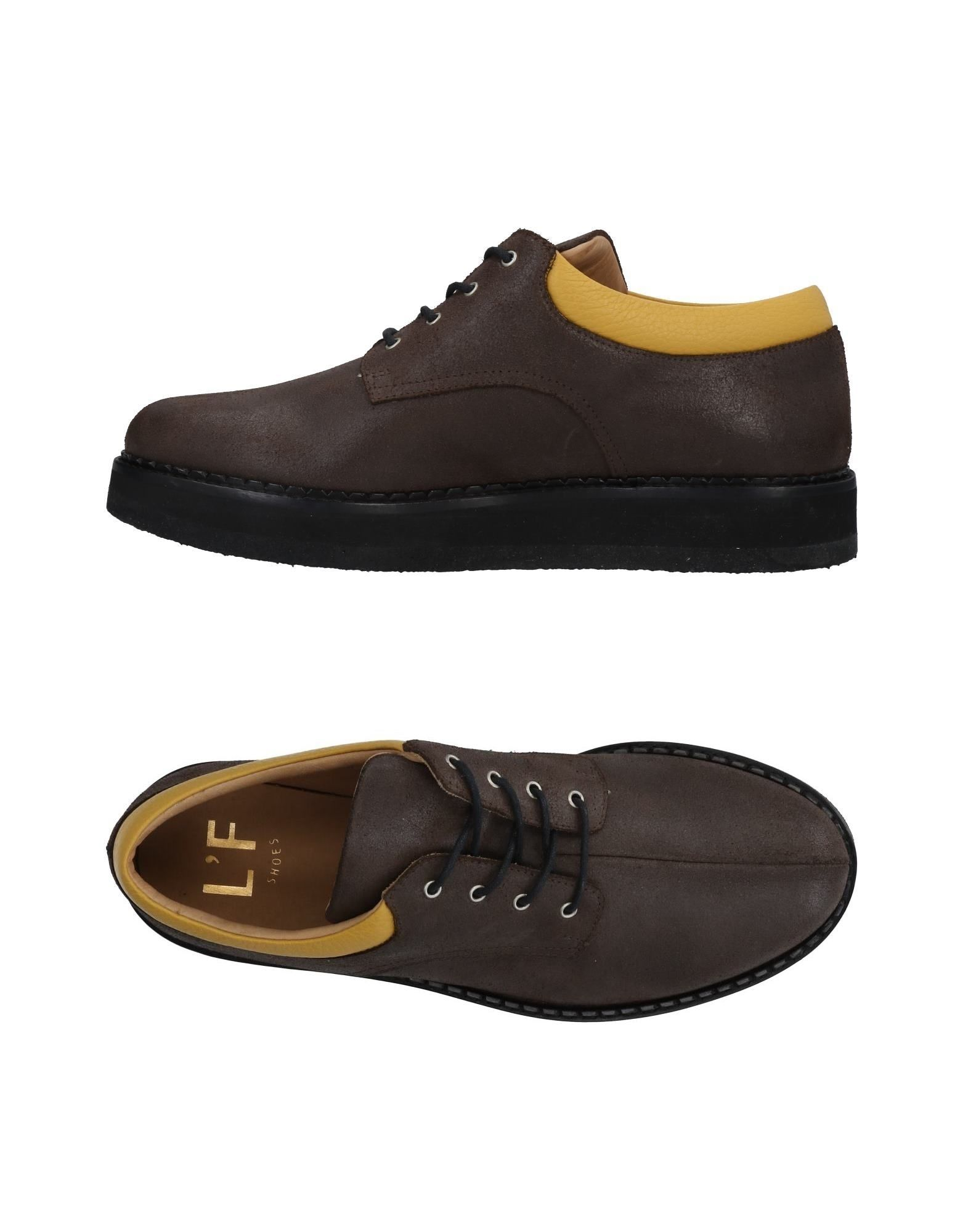 L'F SHOES Laced Shoes in Dark Brown