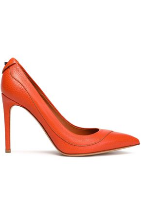 VALENTINO Textured-leather pumps