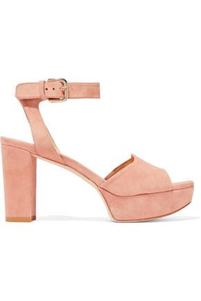 STUART WEITZMAN Textured-leather platform sandals