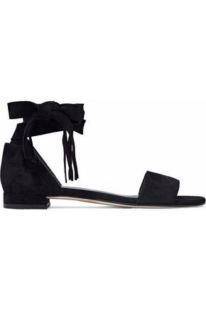 STUART WEITZMAN Corbata fringed suede sandals