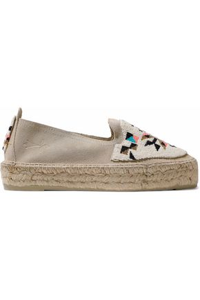 ALICE+OLIVIA Woman Bradley Embroidered Canvas Espadrilles Size 36.5 Professional Prices Cheap Price Perfect For Sale YVffrDV0