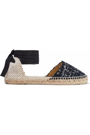 Manebi MANEBÍ WOMAN TWEED AND WOVEN ESPADRILLES MIDNIGHT BLUE
