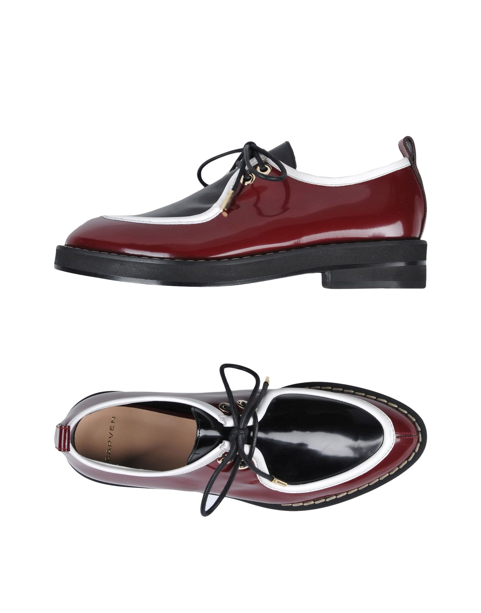 Carven Laced Shoes In Maroon