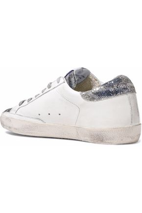 386c08421b30 ... GOLDEN GOOSE DELUXE BRAND Superstar distressed glittered leather  sneakers