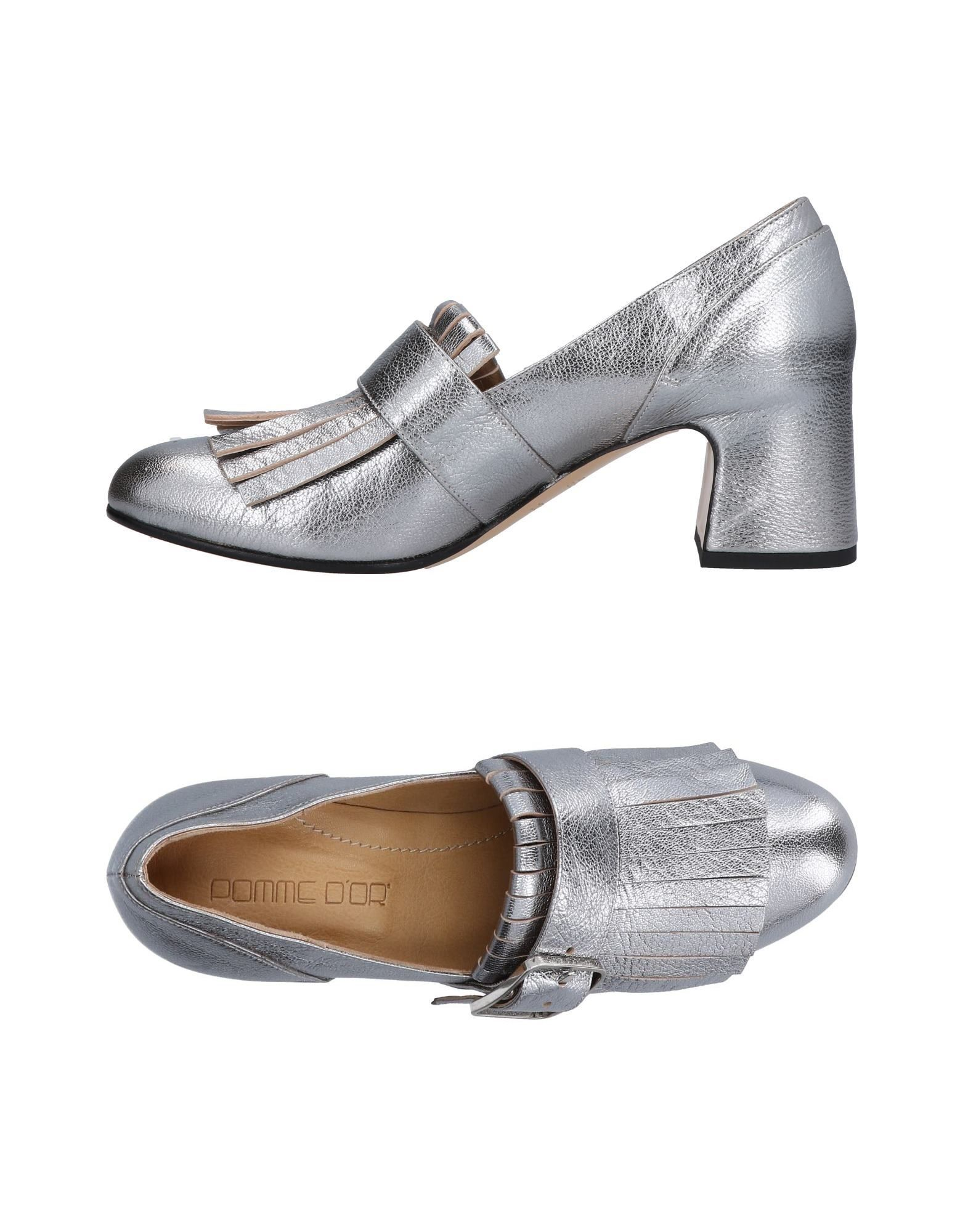 POMME D'OR Loafers in Silver
