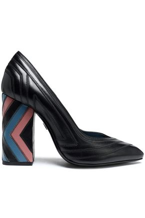 LANVIN Quilted leather pumps