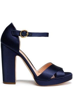 RUPERT SANDERSON Satin sandals