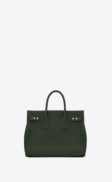 SAINT LAURENT Sac De Jour Supple Woman Small SAC DE JOUR SOUPLE in dark green grained leather b_V4