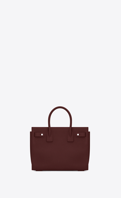 SAINT LAURENT Sac De Jour Supple Woman Baby SAC DE JOUR SOUPLE in dark red grained leather b_V4