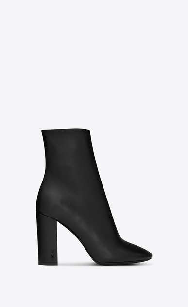 SAINT LAURENT Loulou Woman Lou 95 ankle boot in black leather a_V4