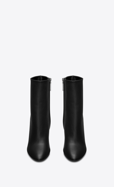 SAINT LAURENT Loulou Woman Lou 95 ankle boot in black leather b_V4