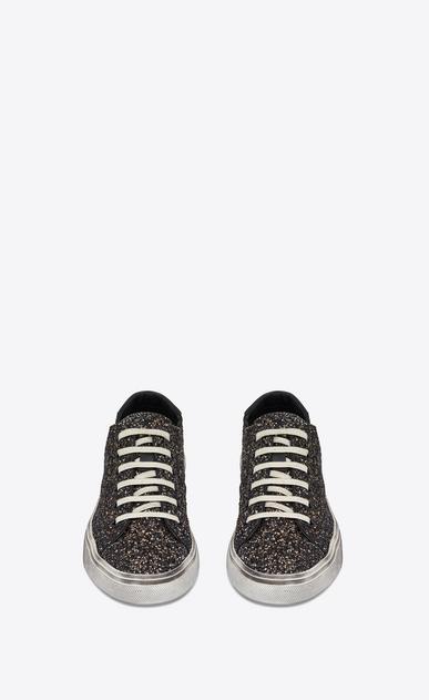SAINT LAURENT Bedford Woman Bedford sneaker in black glitter b_V4
