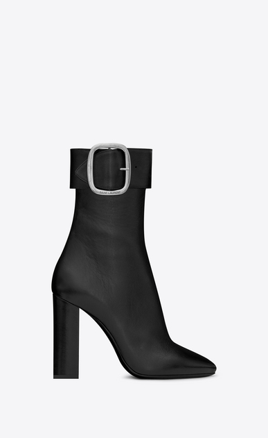 SAINT LAURENT Heel Booties Woman Joplin 105 ankle boot in black leather a_V4