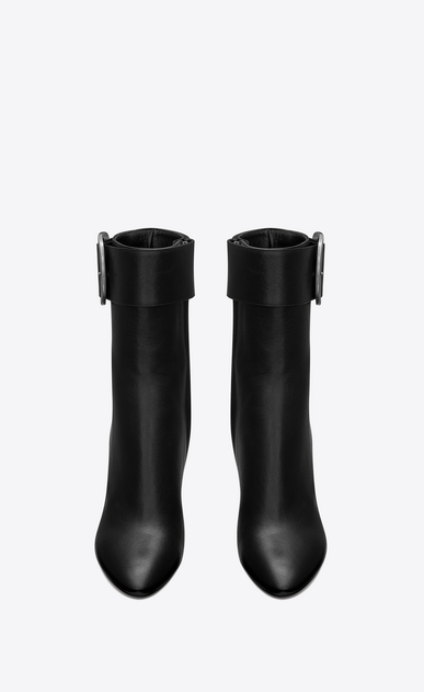 SAINT LAURENT Heel Booties Woman Joplin 105 ankle boot in black leather b_V4