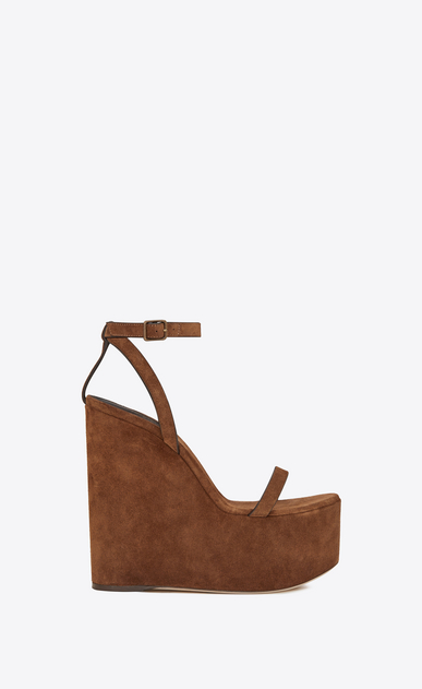 Frida wedge sandal in suede