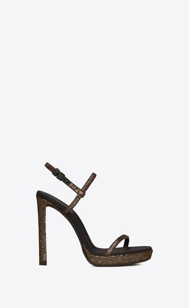 SAINT LAURENT Sandals Woman Hall 105 sandal in gold glitter a_V4