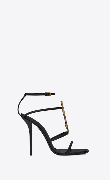 SAINT LAURENT Sandals Woman Cassandra 110 sandal in black leather b_V4