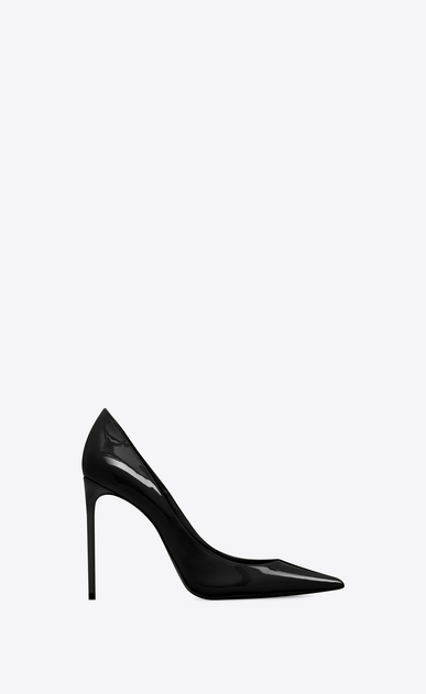 SAINT LAURENT Zoe pumps Woman Zoe 105 pump in black patent leather a_V4