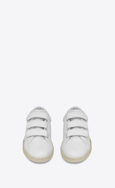 SAINT LAURENT Trainers Woman Court Classic SL/01 sneaker in leather and velcro b_V4