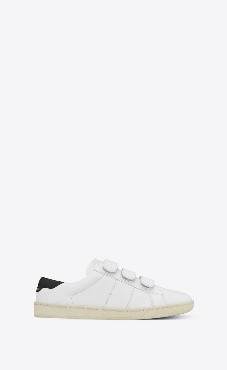 COURT CLASSIC SL/01 SNEAKER IN LEATHER AND VELCRO