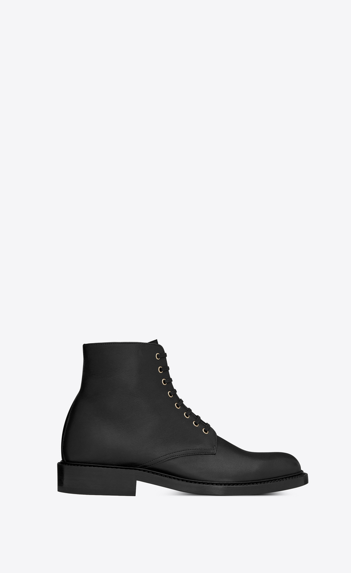 ARMY ANKLE BOOT IN LEATHER