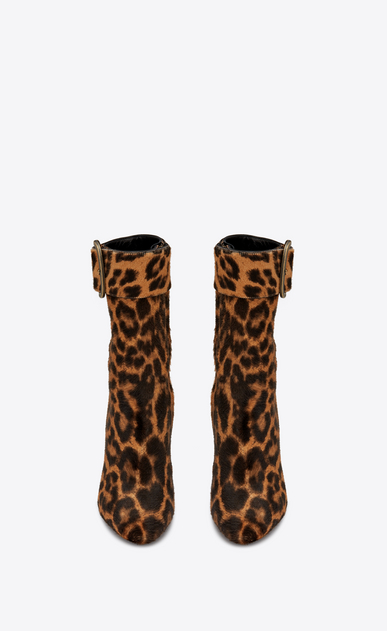 SAINT LAURENT Heel Booties Woman Joplin 105 ankle boot in leopard-look calfskin b_V4